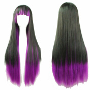 "YX 28"" Harajuku Lolita Wig Anime Cosplay Wigs Halloween Wigs synthetic Wigs women Long Straight Wigs with Bangs 70CM"