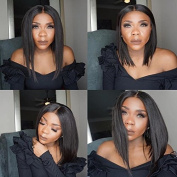 Freya Hair 360 Lace Frontal Wig Glueless Bobs 150density Pre Plucked Middle Part Asymmetrical Wave Bob Wigs