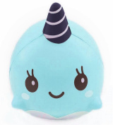Malloom 9CM Soft Whale Cartoon Squishy Slow Rising Squeeze Toy Phone Straps