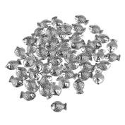 ULTNICE Silver Spacer Beads for Necklace Bracelets Earrings Jewellery Making 50pcs