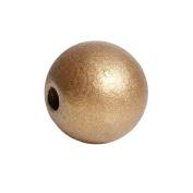 150 Gold Metallic Round Wood Beads Bulk 15mm Wood Bead with 3.6mm Large Hole