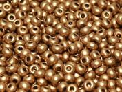 20gr (approx. 750 pcs) 8/0 Czech Glass Seed Beads Rocailles, Aztec Gold