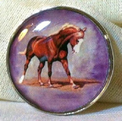 Fine Art Horse Snap CHESTNUT HORSE FLAXEN MANE 18-20MM Great Horse Item! SOME WITH BUBBLES!
