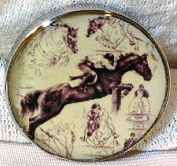 Fine Art Horse Snap EVENTING JUMPING MONTAGE 18-20MM Great Horse Item! SOME WITH BUBBLES!