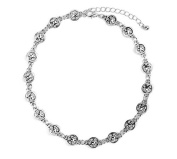 Antic Silver Metal Choker Necklace Punk Star Design Necklaces for Women Party Jewellery Gift