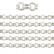 """COIRIS 500"""" Length 3MM Width Silver Plated Colour Circle Link Jewellery Making Chain"""