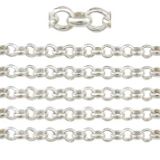 "COIRIS 500"" Length 3MM Width Silver Plated Colour Circle Link Jewellery Making Chain"
