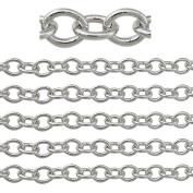 "COIRIS 500"" Length 3.5MM Width Rhodium Colour Jewellery Making Chain"