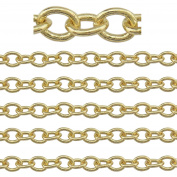 """COIRIS 500"""" Length 3.5MM Width Gold Plated Colour Jewellery Making Chain"""