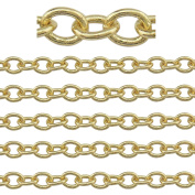 "COIRIS 500"" Length 3.5MM Width Gold Plated Colour Jewellery Making Chain"