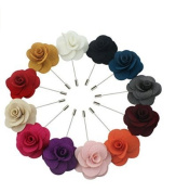 Rose Flower Lapel Pin Wedding Boutonniere for Suits