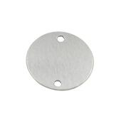 GazeKu blank stamping tags, 2 Holes, Aluminium .80cm (20 Ga.) (2.5cm Round)