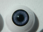 24mm Pair of Realistic Life Size Acrylic Half Round Hollow Back Eyes for Halloween PROPS, MASKS, DOLLS or Bears FB04