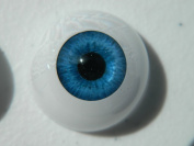 24mm Pair of Realistic Life Size Acrylic Half Round Hollow Back Eyes for Halloween PROPS, MASKS, DOLLS or Bears FB011