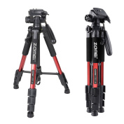 Zomei Q111 140cm Pan Head Panoramic Travel Camera Tripod Lightweight with 0.6cm Quick Release Plate for Canon Nikon Sony Olympus Samsung etc.Digital DSLR DV Camera