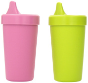 Re-Play Sippy Cup, Set of 2, leak-proof | BPA Free | Sustainable using Recycled Material | Made in the USA