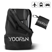 YOOFAN Gate Cheque Travel Bag with Backpack Shoulder Straps for Strollers, Car Seats, Pushchairs, Boosters, Infant Carriers and Wheelchairs, Water Resistant - Great for Aeroplane and Storage