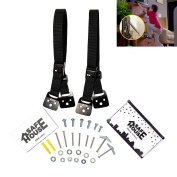 E-Bestar Anti-Tip TV Furniture Straps Heavy Duty Strap and All Metal Parts, Long VESA Screws to Fit Latest TVs