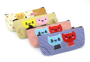 Franchen Canvas Pencil Pencil Pouch Pencil Bags Pen case pencil bag cat design box
