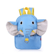Neeiors Cute Elephant Style Toddlers Walking Safety Harness Backpack Kids Babies Anti-lost Kindergarten School Bag with Reins Light Blue