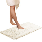 Non-slip Bathroom Rug Safety Shower Mat Machine-washable Bath Carpet with Water Absorbent Soft Microfibers of