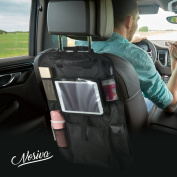 NOSIVA Car Back Seat Organiser Multi-Pocket Travel Storage With Touch Screen iPad Holder