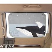 Car Sun Shade Curtain for Side Window for baby kids children - Car Sunshade Protector - Blocks over 95% UV Rays and Sun Glare Design Car Interior Sun Blocker Blind