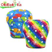OHBABYKA Baby Swim Nappy Adjustable Unisex Reusable Washable Swim Pants