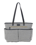 carter's All The Time Chevron Tote Nappy Bag in Black/Ivory