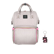 Nappy Bag Waterproof Travel Backpack Stylish Nappy Bags with Multi-Function for Baby Care