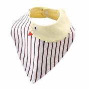 Dealzip Inc A Must Buy Organic Cotton Cartoon Unisex Baby Bandana Drool Bib for Boys and Girls-Adorable Chicken
