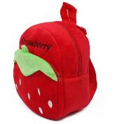 Kangkang@ Lovely Strawberry Baby Mini Backpack Infant Lunch Bag Toddler Shoulder RED 1-4Y