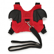 Hipiwe Baby Walking Safety Harness Reins Anti-lost Bat Backpack Style Walking Belt Cute Mini Toddler Leash Child Kid Travel Strap