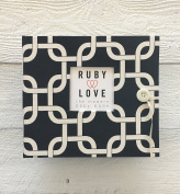Black MOD Links Baby Memory Book - Ruby Love Baby Book