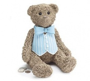 Teddy Bear Bank in Blue Vest - 9729390