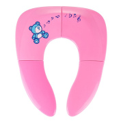 Travel Potty Seat, Tinabless Portable Folding Reusable Travel Toilet Potty Training Seat Covers Liners for Babies, Toddlers and Kids