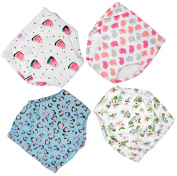 4 Pack Potty Training Pants for Baby and Toddler Girls,Pure Cotton,Adorable and Comfortable,Size M
