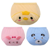 Fairy Baby Reusable Baby Potty Training Pants Cotton Underwear with Cartoon Pattern Pack of 3