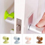 New Home Door Handle Silicone Anticollision Sucker Home Door Protecting Pad Mute Silencer Suction Mat