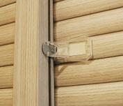 Sure Basics Sliding Door Lock to Baby Proof Windows, Closet, Patio Screen Doors, Clear, 4 Pack