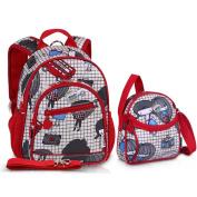 Two Piece Set Kids Waterproof Anti-lost Backpack Cross Body Bag