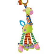 CH Baby Toddler Car Bed Stroller Hanging Spiral Activity Dangle Toys,Green Giraffe