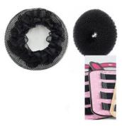 Black Hair Bun + Hair Net + Hair Pins designed for Ballerna