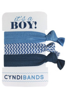 It's a Boy Blue 3 Pack Hair Ties Baby Shower Favour