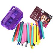 42Pcs/Set Flexible Twisty Rods Foam Benders Safe Hair Dressing Curlers Bendy Curly Roller Stick