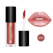 Coosa 3PCS Non-stick Cup Metal Lipstick Waterproof Sparkling Lip Gloss Vivid Colour Matte Lip Liquid Long Lasting Makeup 3 Colours Set