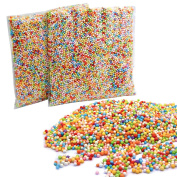Mini Styrofoam Foam Balls 2 Pack (About 25000 Foam Balls) Mixed Colour Foam Filler Beads 0.1-0.4cm Household School Arts Crafts Supplies for DIY Slime, Wedding Party Decoration by Blisstime