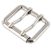 B7348 3.8cm Nickel Plate, Double Prong Roller Buckle, Solid Brass-LL