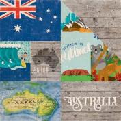 Around The World Double-Sided Cardstock 30cm x 30cm -Australia