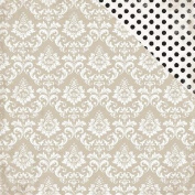 Wedding Bliss Double-Sided Cardstock 30cm x 30cm -Dearly Beloved Damask